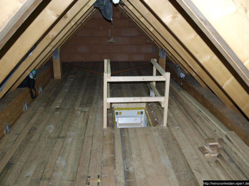 dachboden beplankt mein hausbau mit heinz von heiden. Black Bedroom Furniture Sets. Home Design Ideas